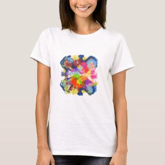 Camiseta ilha da mancha da cor