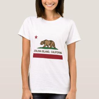 Camiseta ilha de Catalina da bandeira de Califórnia
