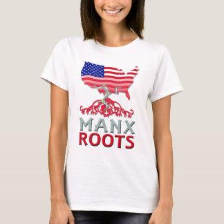 Camiseta Ilha do T americano Manx do homem