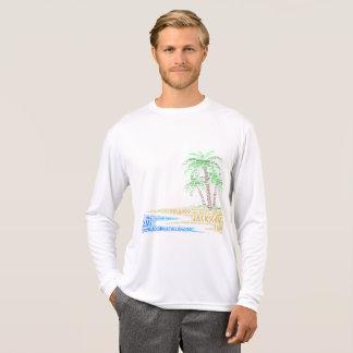 Camiseta Ilha tropical ilustrada com as cidades de Florida