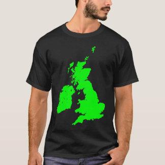Camiseta Ilhas britânicas no verde