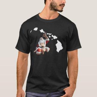 Camiseta Ilhas e Papai Noel de Havaí
