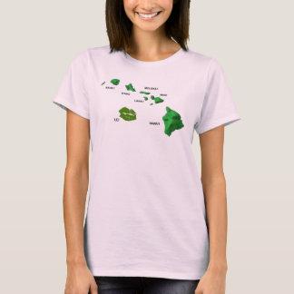 Camiseta Ilhas havaianas com a ilha raramente vista dos