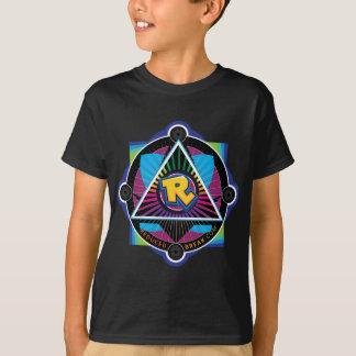 Camiseta illuminati pela ruptura reduzida