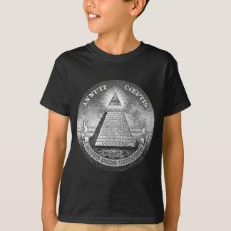 Camiseta Illuminati todo o pedreiro de vista do olho livre