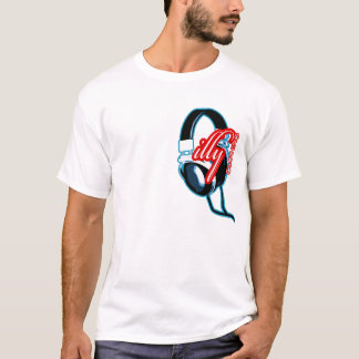 Camiseta illy - design do auscultadores