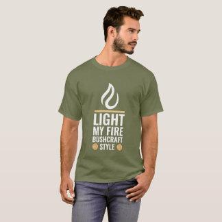 Camiseta Ilumine meu estilo de Bushcraft do fogo