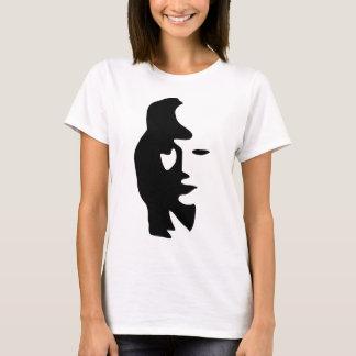 Camiseta Ilusão óptica do saxofone ou da mulher