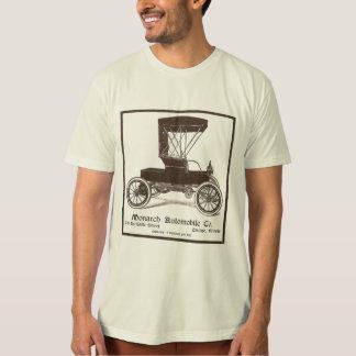 Camiseta Ilustração 1905 do vintage do automóvel do monarca