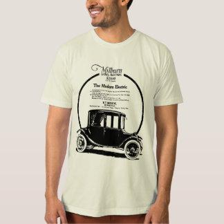 Camiseta Ilustração 1919 do carro elétrico de Milburn