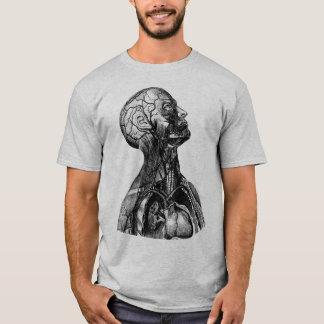 Camiseta Ilustração anatômica do vintage da parte superior