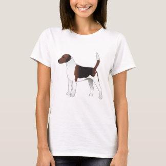 Camiseta Ilustração básica do cão de cão da raça do Harrier