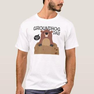 Camiseta Ilustração bonito dos desenhos animados do dia de