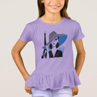 Camiseta Ilustração chique legal do na moda francês da