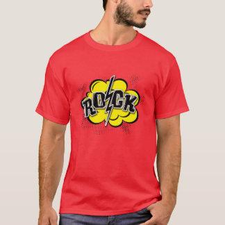 Camiseta Ilustração cómica da rocha do estilo
