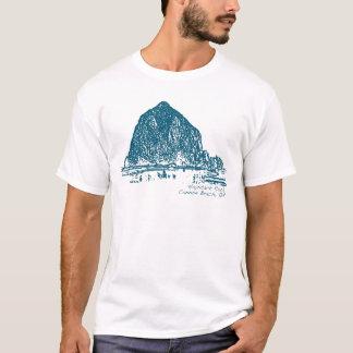 Camiseta Ilustração da rocha do monte de feno