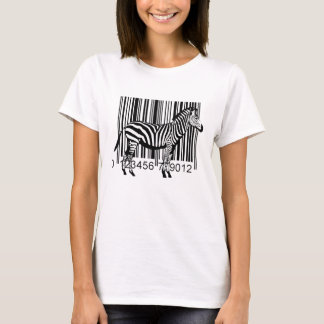 Camiseta Ilustração da zebra do código de barras