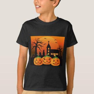 Camiseta Ilustração das abóboras da lanterna do Dia das