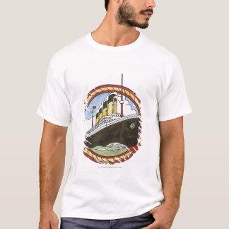 Camiseta Ilustração de titânico