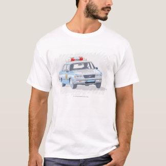Camiseta Ilustração do carro de polícia com dois polícias