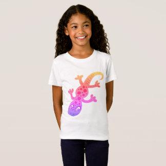 Camiseta Ilustração do clipart do geco do lagarto do
