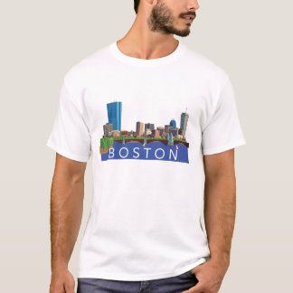 Camiseta Ilustração do computador da skyline da
