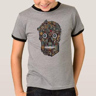 Camiseta Ilustração do crânio de Steampunk da maquinaria