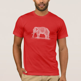 Camiseta Ilustração do elefante branco - elefantes dos