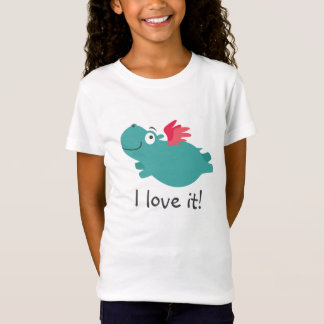 Camiseta Ilustração do hipopótamo do vôo