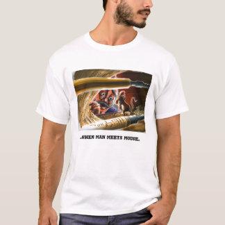 Camiseta Ilustração do rato do piano de jogador