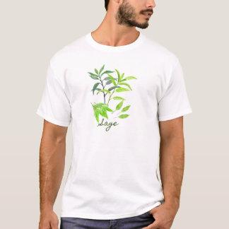 Camiseta Ilustração do sábio da erva da aguarela