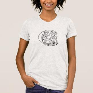 Camiseta Ilustração do vintage da letra c