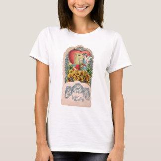 Camiseta Ilustração do vintage do querubim voado