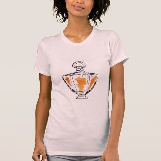 Camiseta Ilustração do watercolour da forma da garrafa de