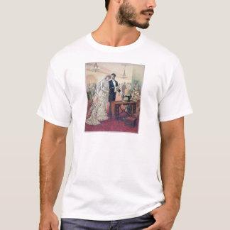 Camiseta Ilustração dos noivos do vintage