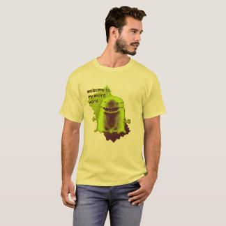 Camiseta ilustração estrangeira estranha engraçada do