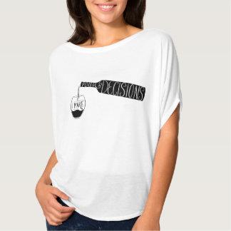Camiseta Ilustração que do vinho eu faço para derramar