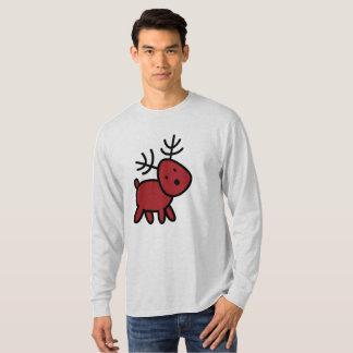 Camiseta Ilustração vermelha da rena do Natal
