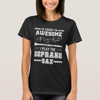 Camiseta Im jogo impressionante de I o saxofone do soprano