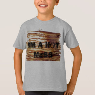 Camiseta im um t-shirt quente da panqueca da confusão