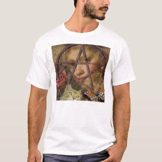 Camiseta imagem cor-de-rosa do pentagram do victorian