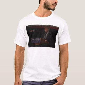 Camiseta Imagem de Donald Trump feita de sinais de dólar