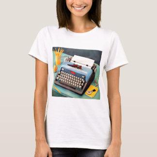 Camiseta imagem do anúncio da máquina de escrever dos anos