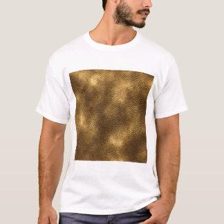 Camiseta Imagem do couro de Brown