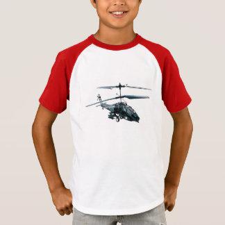 Camiseta Imagem do helicóptero do brinquedo para a