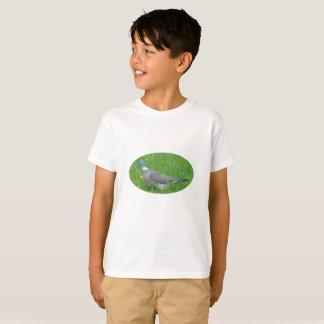 Camiseta Imagem do pombo para o t-shirt dos miúdos, branca