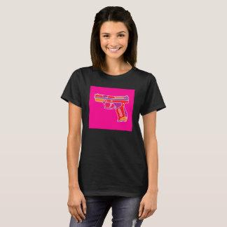 Camiseta Imagem do revólver do pop art