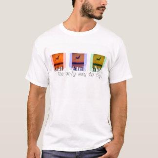 Camiseta Imagem legal do t-shirt do pensionista do embarque