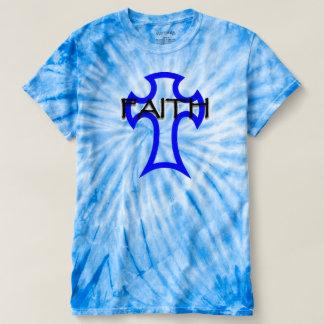 Camiseta imagem transversal com a fé escrita