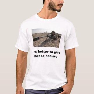 Camiseta imagens, é melhor dar do que para receber